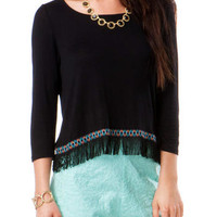 QUINN FRINGED CROP TOP