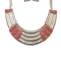 Jewel Station Collar Necklace & Earring Set