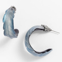 Alexis Bittar &#x27;O&#x27;Keeffe&#x27; Feather Hoop Earrings