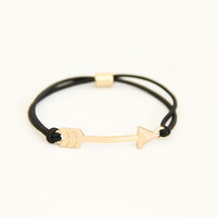 Black Arrow Stretch Bracelet