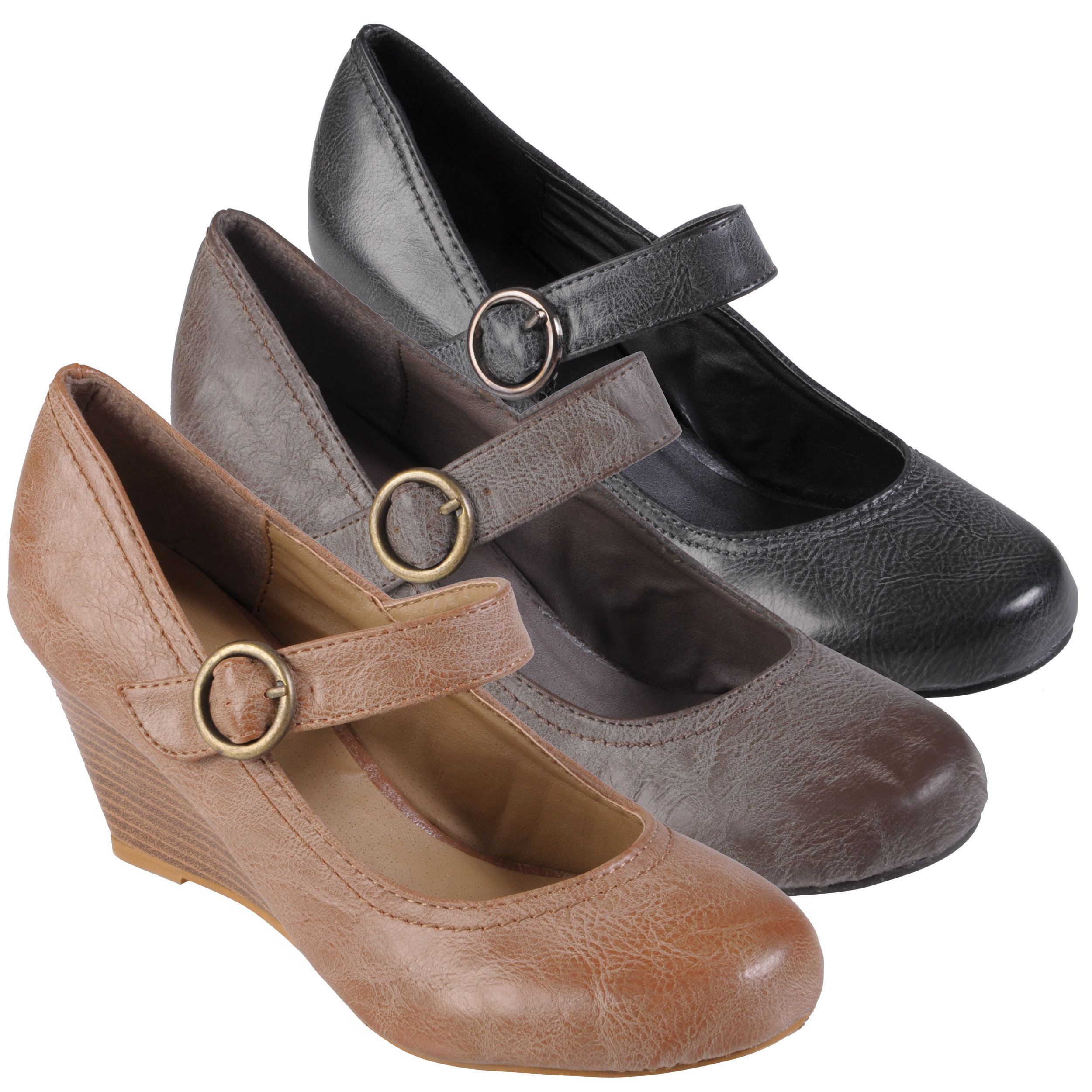 Journee Collection Women's 'Olson' Faux Leather Round Toe Mary Janes | Overstock.com