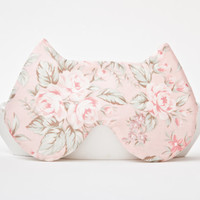 Sleep Mask Cat, Floral pattern