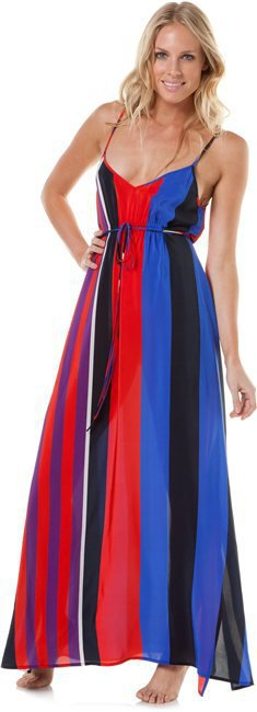 CHARLIE JADE MADISON STRIPE MAXI DRESS