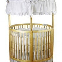 Dream On Me Sophia Posh Circular Crib in Natural - 669-N - Furniture