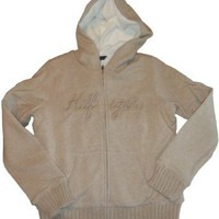 Women's / Girl's Tommy Hilfiger Hoodie Hooded Sweat Jacket Beige Size Medium