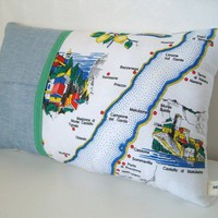Postcards from Italy 16 x 10 cushion / pillow Hybrid by yolki