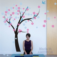 Nursery Wall Decal Cherry Blossom Tree in by ChuckEByrdWallDecals