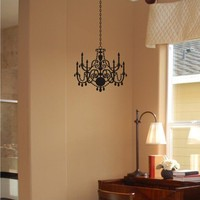 Chandelier wall decal sticker 1129 by ChuckEByrdWallDecals on Etsy