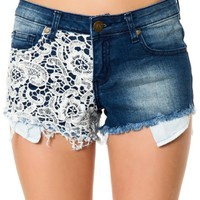 Reverse Women's Embroidered Side Shorts