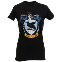 Harry Potter EXCLUSIVE Ravenclaw Crest Women&#x27;s Fitted T-Shirt | WBshop.com | Warner Bros.