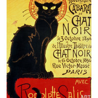 Reopening of the Chat Noir Cabaret, 1896 Giclee Print by Théophile Alexandre Steinlen at Art.com