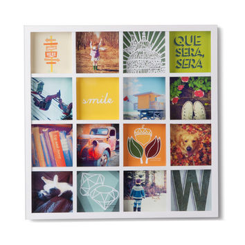 I liked this design on #Fab. Gridart Photo Display White