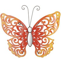 Red Butterfly Wall Decor