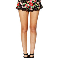 Papaya Clothing Online :: FLORAL LACY DOLL SHORTS