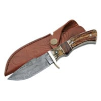 Damascus Game Skinner Knife - ZS-DM-1022 by Dark Knight Armoury