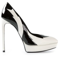 SAINT LAURENT monochrome platform pumps
