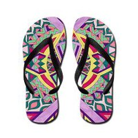 Abstract Journey Flip Flops> Pom Graphic Design
