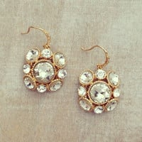 Crystal Bauble Earrings