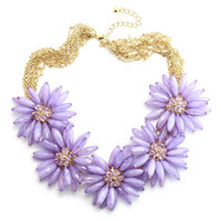 Lavender Blooms Mist Necklace