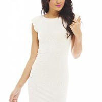 Cream Swirl Body-con Dress