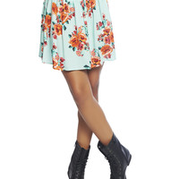 Floral Skater Skirt | Wet Seal