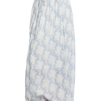 Crinkle White Flower Maxi Skirt | Wet Seal
