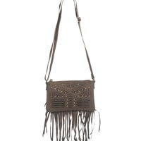 Fringe Small Crossbody Bag | Wet Seal