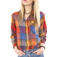 Multicolored Flannel Shirt