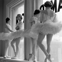 Ballerinas on Window Sill in Rehearsal Room at George Balanchine's School of American Ballet Photographic Print by Alfred Eisenstaedt at Art.com