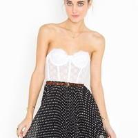Spotted Swing Skirt - Black in  Clothes Bottoms Skirts at Nasty Gal