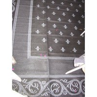 Patio Mats® 6x9' Mats, BLACK/SILVER