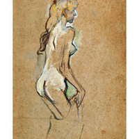 Nude Girl, 1893 Giclee Print by Henri de Toulouse-Lautrec at eu.art.com