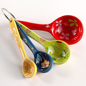 Floral Measuring Spoons