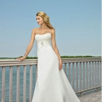 Chiffon Halter A-Line Beach Wedding Dress - Basadress.com