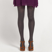 Cable Knit Tights     	    		Dotti