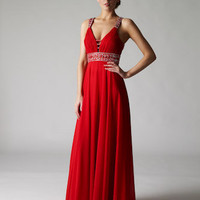 Buy Grecian Evening Dresses |Tease Chiffon Evening Dress From VERB