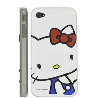 Hello Kitty Hard Plastic Case With Transparent Side Design For iPhone 4 and 4S