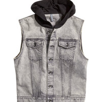 H&M - Hooded Denim Vest -