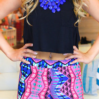 She's Trouble Tribal Shorts