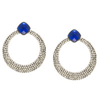 Midnight Sapphire Earrings