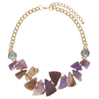 Lavender Shades Handcut Quartz Necklace