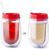 Stemless Traveler Wine Glass