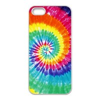 iPhone 5 5s Case - Tie Dye Apple iPhone 5 5s Waterproof TPU Back Cases Covers