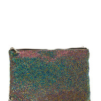 Disco Fever Rhinestone Clutch