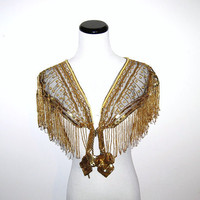 Vegas Fringe Shawl by CheekyVintageCloset on Etsy