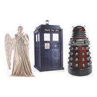 Doctor Who TARDIS Dalek And Weeping Angel Mini Standee 3 Pack