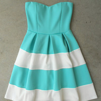 Swing & Stripe Dress in Mint [5223] - $42.00 : Vintage Inspired Clothing & Affordable Dresses, deloom | Modern. Vintage. Crafted.
