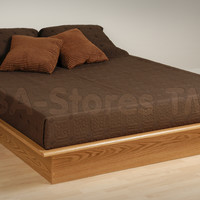Prepac Platform Bed in Oak | Beds OBD-5475/4