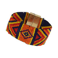 TRIBAL PATTERN BEADED BRACELET