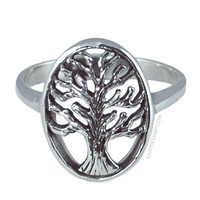 Silver Tree of Life Ring on Sale for $24.99 at HippieShop.com